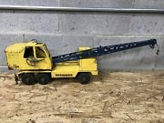 Vintage 1950and039s Nylint Michigan T-24 Shovel Crane Pressed Steel Toy