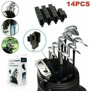 14packs Golf Bag Club Organizers Clip On Putter Holder Iron Driver Protector Set