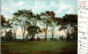 Postcard View From Front Lawn Of The Dr Holbrook School Ossining Ny