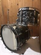 Rogers Bandb Holiday Drums Cleveland Bass Tom And Swivomatic Black Diamond Pearl
