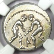 Greek Pisidia Selge Ar Stater Wrestlers Silver Coin 325-250 Bc - Ngc Choice Xf
