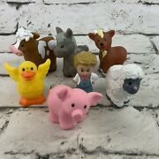 Fisher Price Little People Farm Animal Lot Farmer Horse Goat Cow Duck