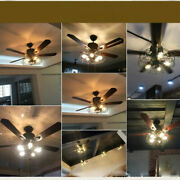 Unique Remote Control Ceiling Fan Light 52 Modern Steampunk With Wood Leaves