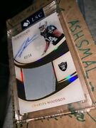 2019 Immaculate Premium Charles Woodson Raiders Game-used Patch Auto Andrsquod 02/10