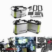 Motorcycle Top Case And Side Boxes Trunk Luggage Carrier Storage W/ Mount Bracket