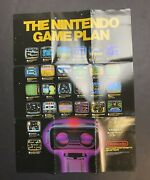 1986 Early Nes Small Poster The Nintendo Game Plan Early Black Box Games Rare