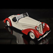 Collection 118 Audi 225 1935 Front Roadster Red/white Diecast Model Car By Cmc