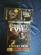 Resident Evil 2-resident Evil 3nemesis With Strategy Guide Tested/near Mintps1