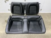 2015-2020 Ford Mustang Gt Coupe Rear Seats Black Leather - Oem
