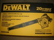 Dewalt Dce100b 20v Cordless Blower 20 Volt Max Jobsite 3-speed Lithium Ion New