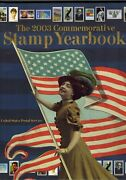 Usps 2003 Commemorative Year Set Collection Of Stamps With Hard Cover Book