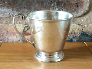 Beautiful Silver Handled Tapered Cup By Barker Ellis Silver Company