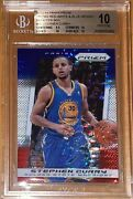 2013 Stephen Curry Panini Prizm Red White Blue Mosaic Pulsar Bgs 10 Pristine Psa
