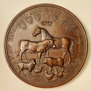 New England Agricultural Society Us Mint Award Medal William H Key Julian Am-54