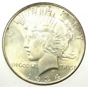 1934-d Peace Silver Dollar 1 Coin - Certified Anacs Ms63 Bu Unc - 358 Value