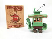 Vintage Dent Hardware Co. Toonerville Trolley Cast Iron Toy In Original Box 4