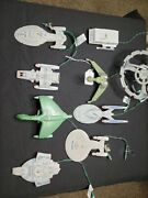 Collectible Star Trek Light Up Ornament Lot Of 9 By Hallmark