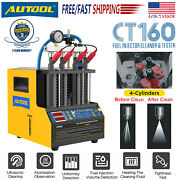 Ct160 Fuel Injector Ultrasonic Petrol Car Nozzle Cleanerandtester Cleaning Machine