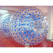 V0 3m Outdoor Grass Inflatable Bubble Body Blue Dot Clear Playing Rolling Ball