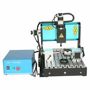 V0 110v 600w 4 Axis 3040 Cnc Router Engraving Drilling Milling Machine Usb Port