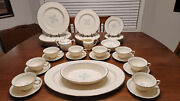 56 Piece Charmaine By Lenox Fine China Set Excellent Shape Retired Pattern 60s