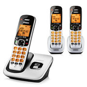 Uniden D1760-3 3 Handset Cordless Phone Dect 6.0 Interference-free And Wide Range