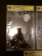 Tmnt Full Set 101-105 Signed Variant Comics Cbcs Graded 9.8, 9.8, And 9.4 And 9.2
