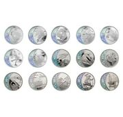 2010 25 Vancouver Olympic Winter Games - Sterling Silver 15-coin Set