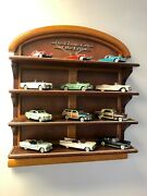 Classic Cars Of The Fifties Franklin Mint 50's Model Display Shelf And Car Set
