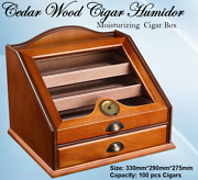 High Quality North Mexican Cedar Wood Cigar Humidor That Store Up To 100 Cigars