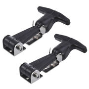 2pcs Rubber T-handle Hasp Draw Latch T-latch Handle Kit For Rv Tool Box Cooler