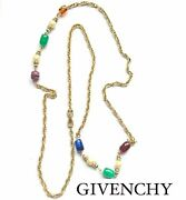 Givenchy Rare Murano Glass Pearl Vintage Necklace