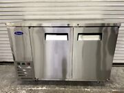 59 Back Bar Cooler Solid Stainless Steel 2 Door Refrigerator Atosa Mbb59 5957