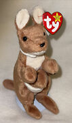 Vintage Ty Beanie Baby Rare Retired Original Mint Condition 1996 Pouch Kangaroo