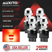 4x Auxito 3157 3156 54smd Led Red Brake Tail Stop Parking Indicator Light Bulb