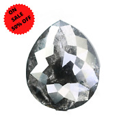 5.15 Ct Salt And Pepper Pear Shape Diamond For Engagement Ring
