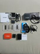 Gopro Hero 3+ Silver Action Camera Bundle With Batteries, Remote, Floaty, Cables