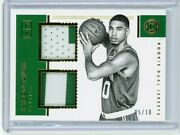 2017-18 Encased Jayson Tatum Rookie Dual Jerseys Patch Gold Prime 5/10