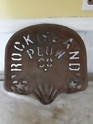 Antique Cast Iron Tractor Seat Rock Island Plow Company
