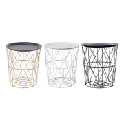 Modern Side Table Round Movable End Tables For Nightstand Home Bedroom