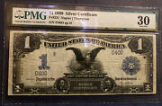 Extremely Rare Fr.231 1 1899 Silver Certificate Pmg 30. Very Low Serial 40.