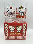 Hello Kitty Drinking Glasses. Kitty And Mimmy. 1999.