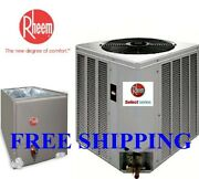 3 Ton R-410a 14seer Rheem Select A/c Condensing Unit And Evaporator Coil