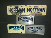 Vintage Lot Of 5 Hoffman Ford Harrisburg Pa License Plate Car Tag Advertising