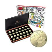 2021 Great Aussie Coin Hunt 2 Andndash 26-coin Bronze Proof Collection And Display Case