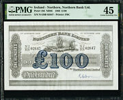 Northern Ireland 100 Pounds 1st October 1968 Pick-186 Extremely Fine Pmg 45