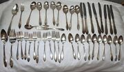 Vintage Wm Rogers Mfg Co Aa Is Large Lot 43 Silverplate Silverware Lot Stainless