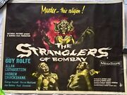 The Stranglers Of Bombay 1959 Hammer First Release Uk Quad Poster .30 X 40