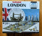 City Of London 4d Cityscape 1100+ Piece History Over Time Jigsaw Puzzle. New