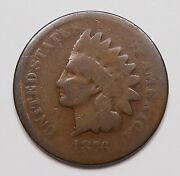United States 1876 Indian Head Small Cent G Very Scarce Date Key U.s.a. Penny